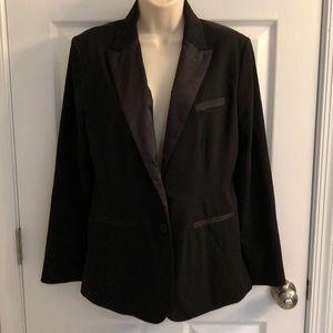 Black LC Lauren Conrad tuxedo style blazer,size 10